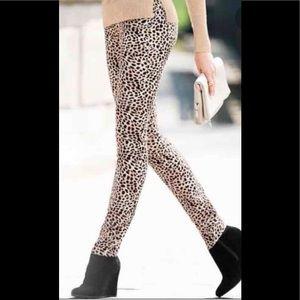 Victoria's Secret VS mid rise siren leopard jeans